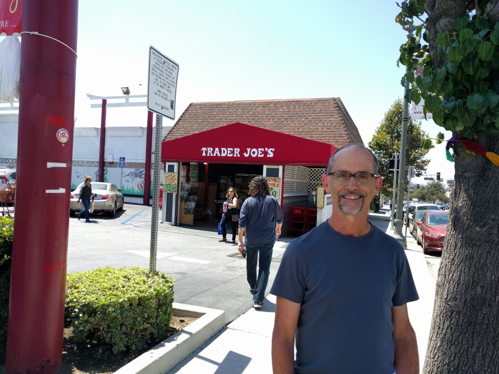 Urban planning expert Richard Willson stands in front of his local Trader Joe's in Eagle Rock. The chain's first store opened 1967 in Pasadena.