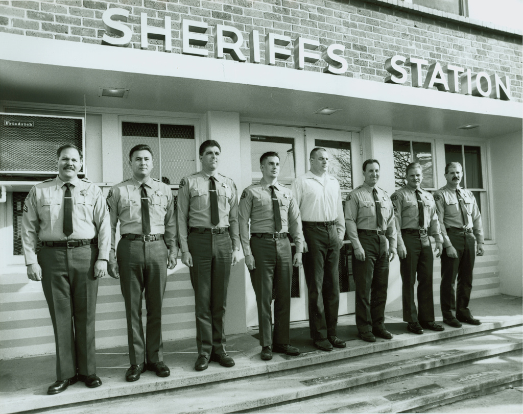 Lorne Ahrens, one of the police officers killed in the Dallas shooting, worked at the Los Angeles Sheriff's Department from 1991 to 2002. He is seen here fifth from left, not wearing a uniform.
