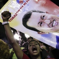 Supporters of Venezuelan President Hugo Chavez gathered late Tuesday at Bolivar Square in Caracas, Venezuela, to mourn him.