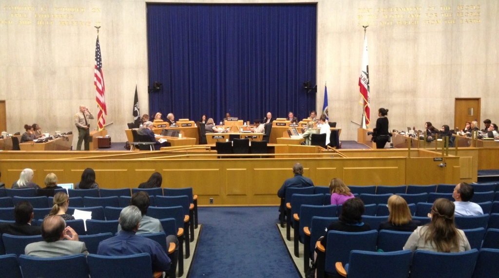 The blue ribbon commission votes on the language of a final report that took a critical look at L.A. County's foster care system on April 10, 2014.