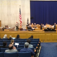 A meeting of the L.A. County Board of Supervisors