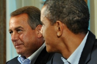 US President Barack Obama meets for budget talks with congressional leaders including House Speaker John Boehner.