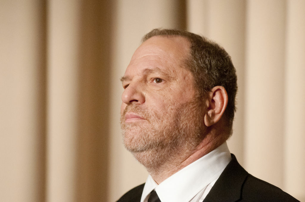 Harvey Weinstein speaks during a panel discussion after a screening of the documentary