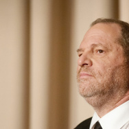 "Harvey Weinstein speaks during a panel discussion after a screening of the documentary ""Bully"" in Washington, D.C. in 2012."