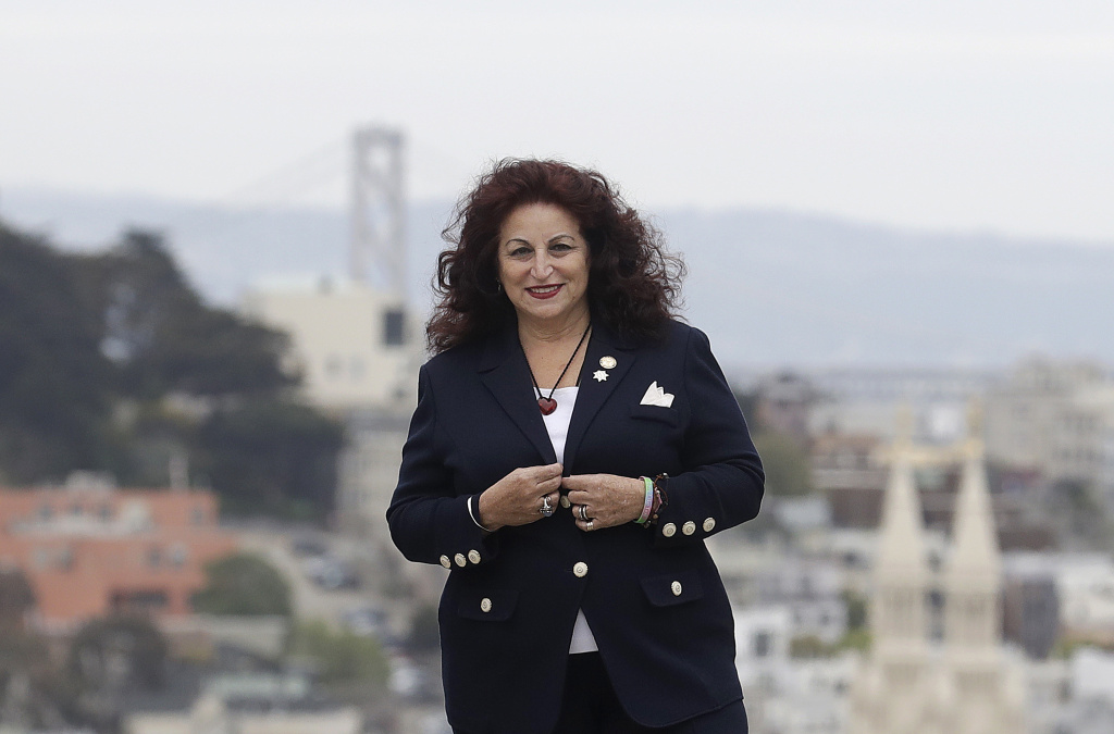 Angela Alioto poses on Russian Hill in San Francisco on April 5, 2018.