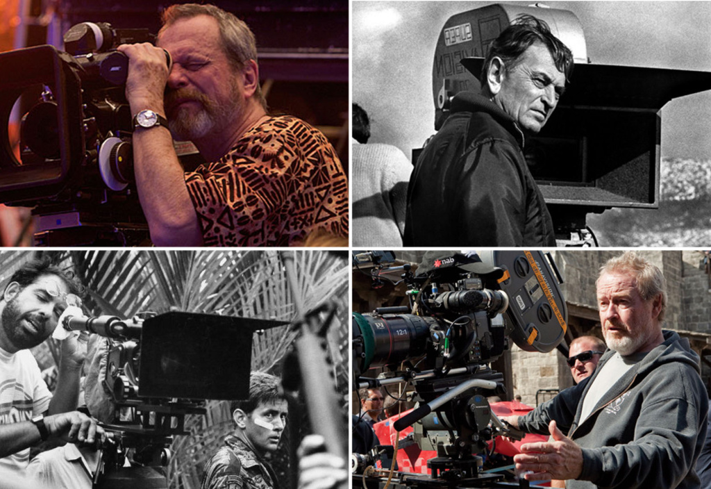Clockwise from top left: Terry Gilliam, David Lean, Ridley Scott, Francis Ford Coppola.