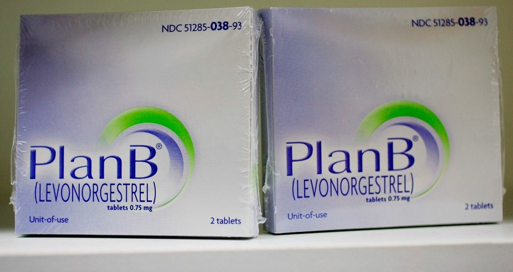 The Plan B pill, also known as the 'morning after' pill, is displayed on a pharmacy shelf February 27, 2006 in Boston, Massachusetts. Many states may have to deal with legislation that would expand or restrict access to the drug since the federal government has not made a decision to make the pill available without a prescription.