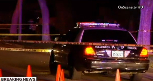 A 7-year veteran of the Fullerton police department was shot multiple times at a traffic stop early Sunday morning.