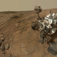 This self-portrait of NASA's Mars rover Curiosity combines dozens of exposures taken by the rover's Mars Hand Lens Imager during the 177th Martian day, or sol, of Curiosity's work on Mars, plus three exposures taken during Sol 270 to update the appearance