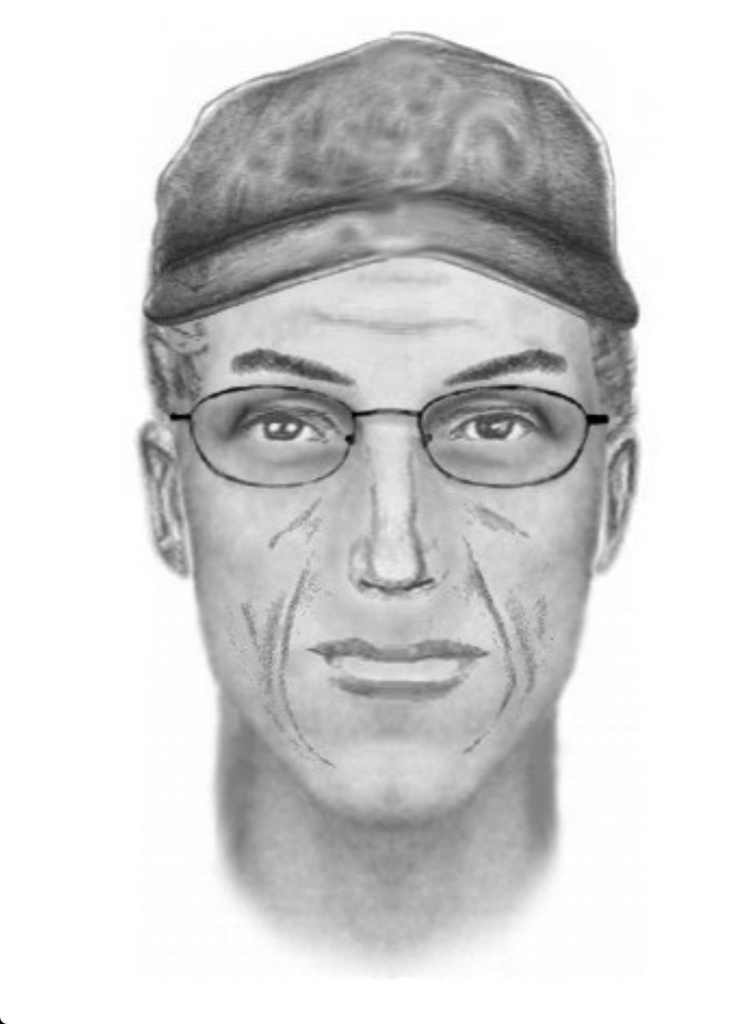 This undated composite sketch provided by the Kern County Sheriff's Office shows the suspect involved in the wounding of police officers in the Kelso Valley, Calif., area on Tuesday, July 28, 2015.