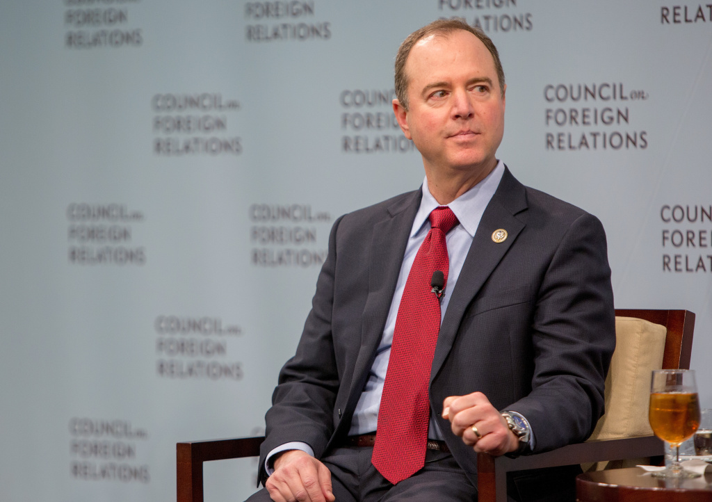House Intelligence Ranking Member Adam Schiff (D-CA) speaks at the Council On Foreign Relations with Andrea Mitchell, Chief Foreign Affairs Correspondent at NBC News on February 16, 2018 in Washington, DC.