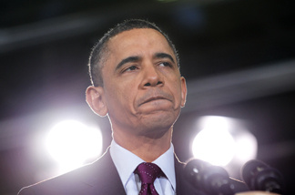 US President Barack Obama speaks at a town hall meeting on the national debt and deficit April 19, 2011 at the Northern Virginia Community College in Annandale, Virginia.