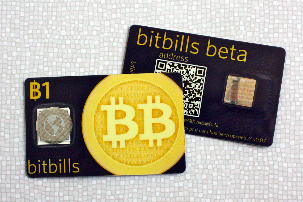 A Bitcoin card. If it's true that Mitt Romney's tax returns were hacked, will he be able to find $1 million in Bitcoin to pay the ransom?