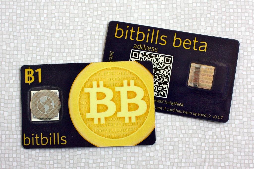 A Bitcoin card.