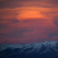 Sun Set In The Sierra Nevada Mountains