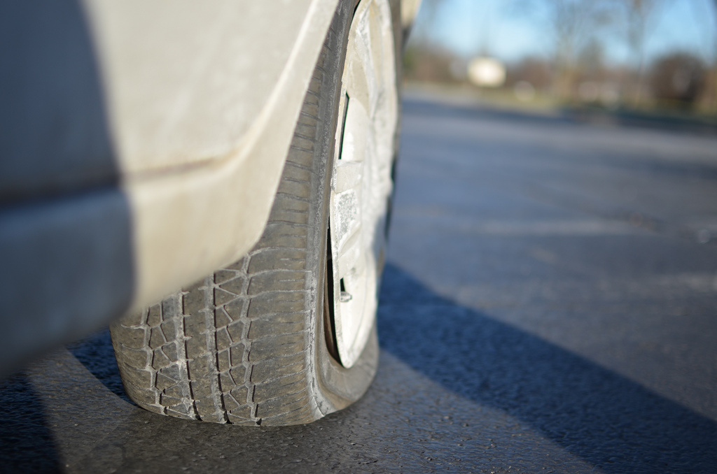 File photo of a flat tire.