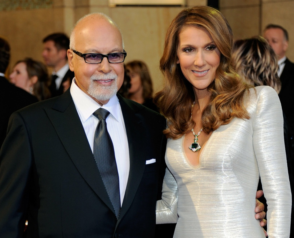 Rene Angelil (L) and his wife, singer Celine Dion, arrive at the 83rd Annual Academy Awards at the Kodak Theatre February 27, 2011 in Hollywood, California.