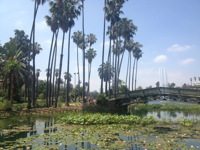 Echo Park Lake open