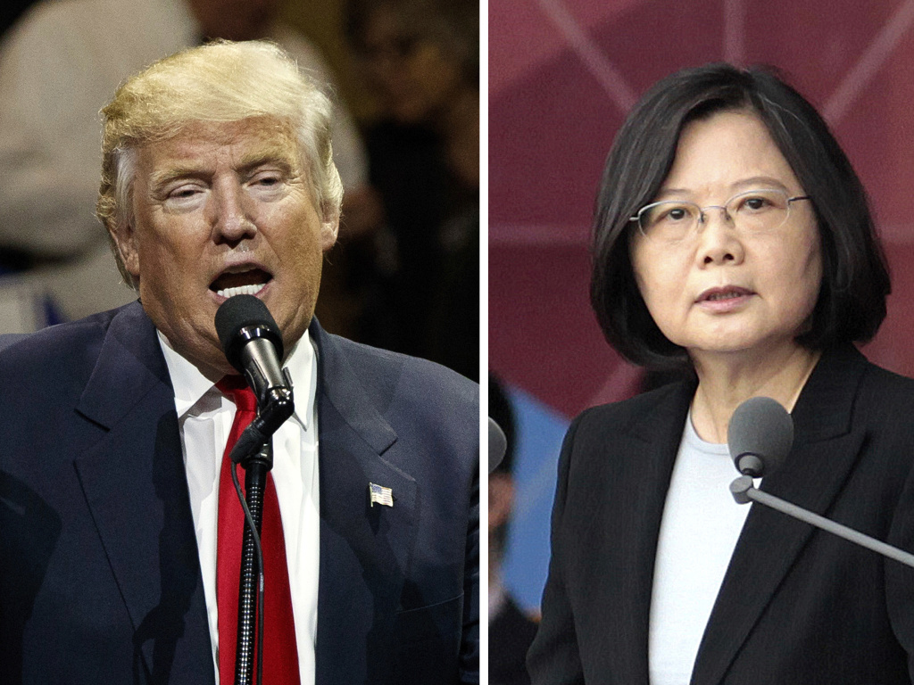 After President-elect Donald Trump's conversation with Taiwan's President Tsai Ing-wen (right), and his subsequent suggestion that the One China policy could be reconsidered, a Chinese government spokesman warned that if the policy