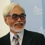 Japan's director Hayao Miyazaki smiles d