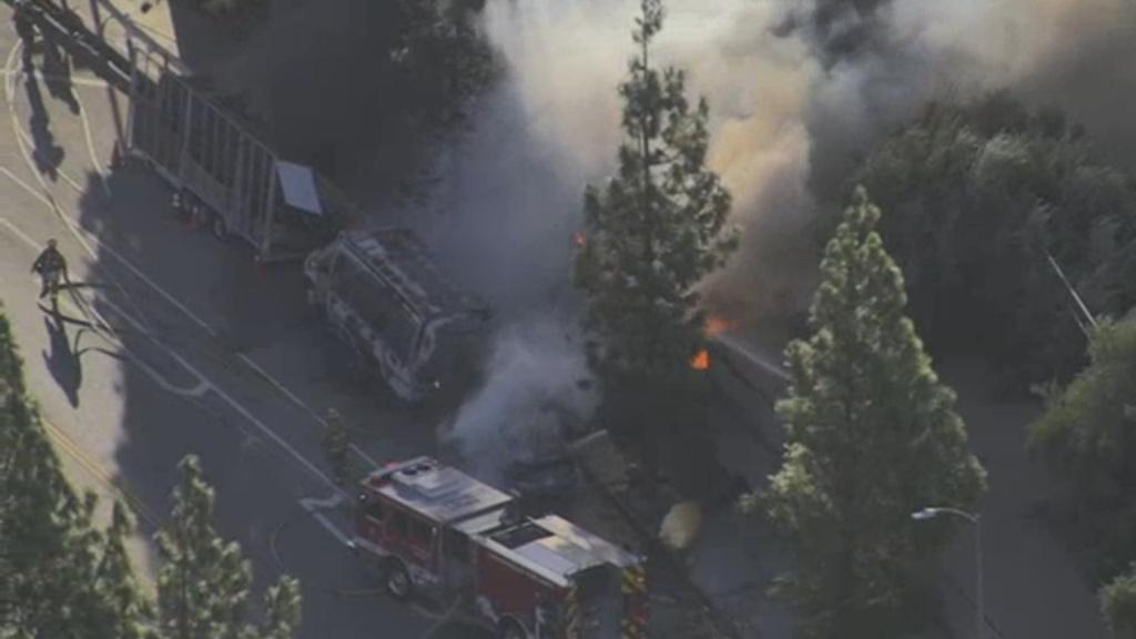 118 freeway fire