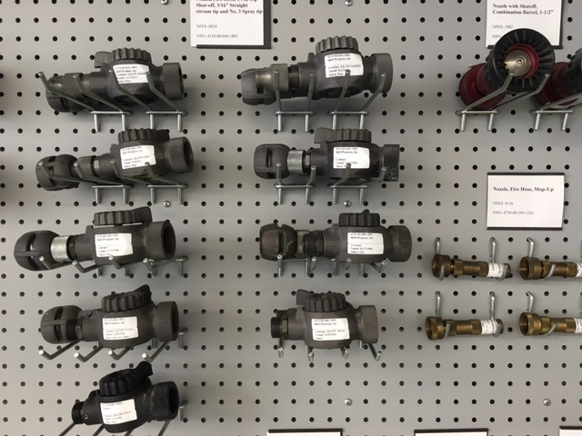A wall of hose components tested by the San Dimas Technology and Development Center.