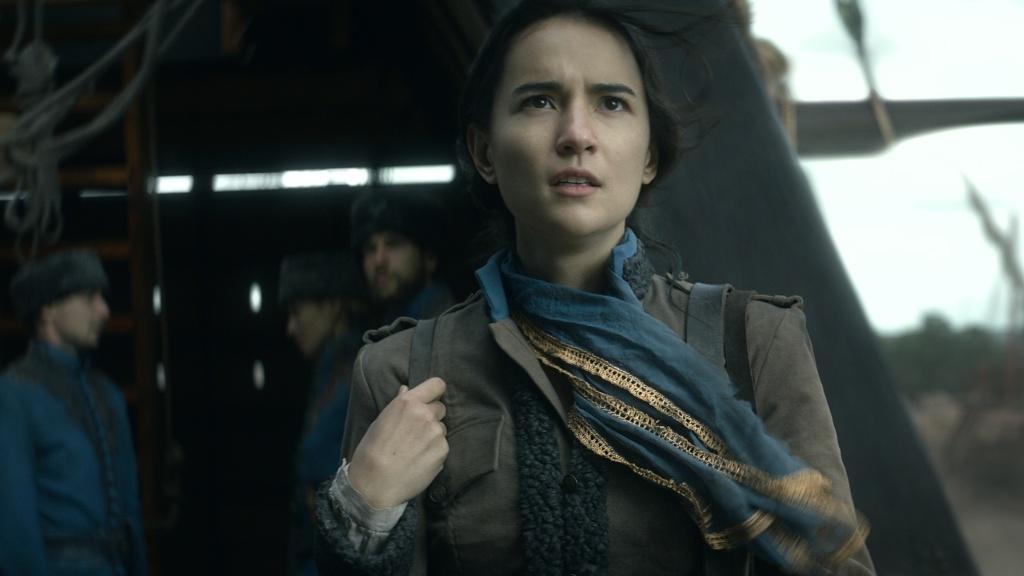 Cartographer Alina (Jessie Mei Li) maps her own fate in Netflix's fantasy series, <em>Shadow and Bone</em>.