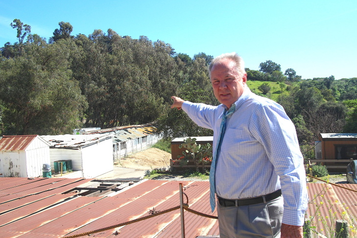 Outgoing City Councilman Tom LaBonge at a city maintenance yard at Griffith Park.