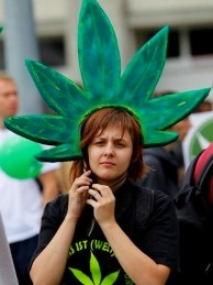 Demonstrators march in support of the legalization of marijuana in Germany during the annual Hemp Parade in Berlin, Germany.