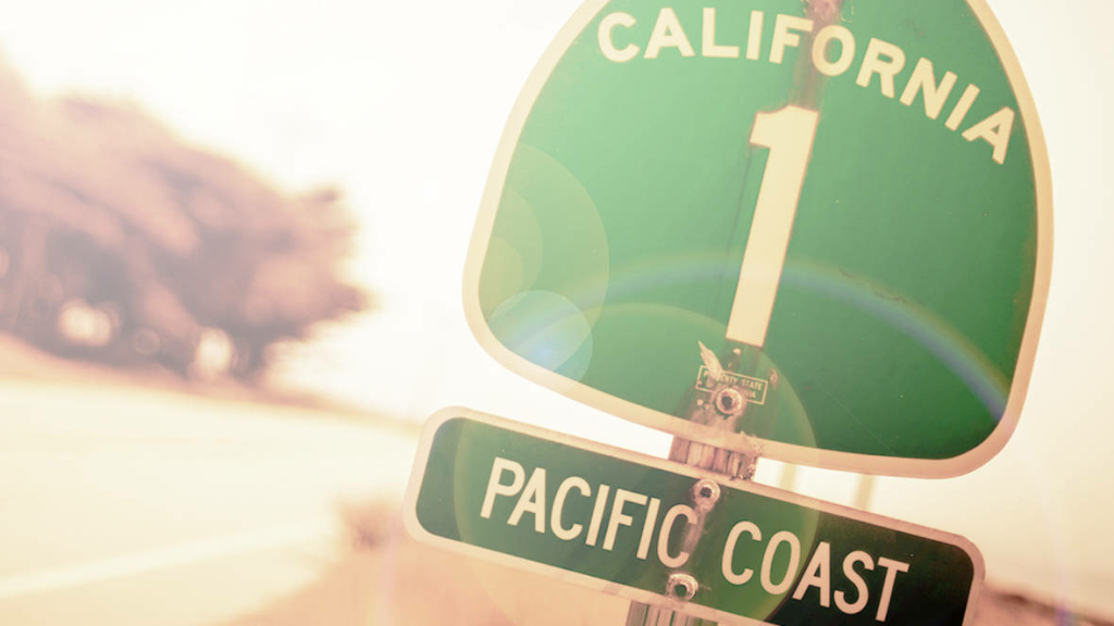 Pacific Coast Highway 1 road sign