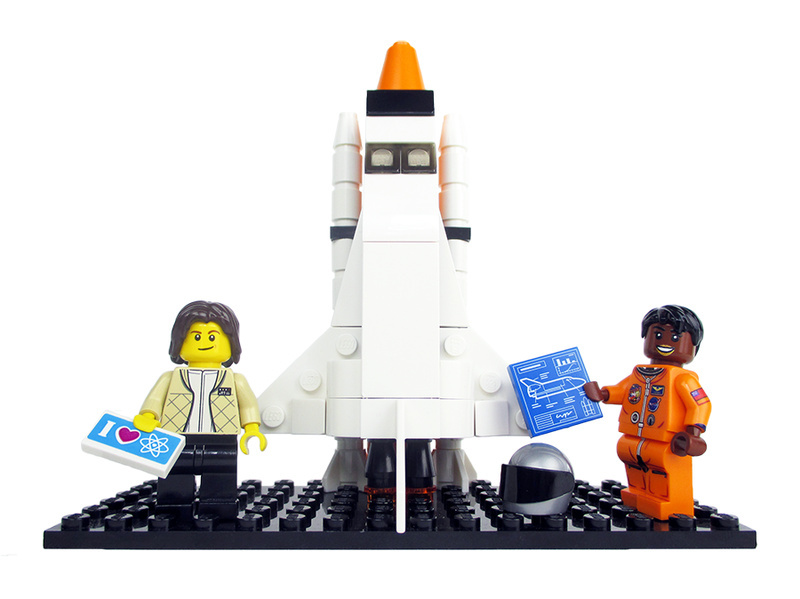 NASA astronauts Sally Ride and Mae Jemison will be featured in the new Lego set.