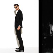 "Singer Robin Thicke (left) is on trial for his song ""Blurred Lines"" and whether it's too similar to ""Got To Give It Up"" by Marvin Gaye (right)"