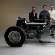 In 2007, Peter and Merle Mullin sponsored a Transportation Design studio that challenged students to imagine a body for a Bugatti Type 64 Coupe chassis that was left uncompleted when Jean Bugatti died in 1939. Here they are joined by students and faculty