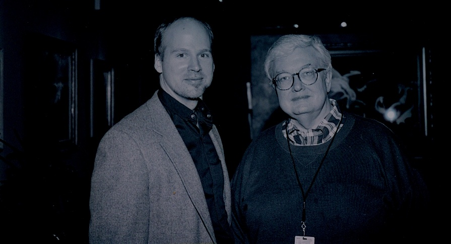 Off-Ramp commentator R.H. Greene and the late Roger Ebert.