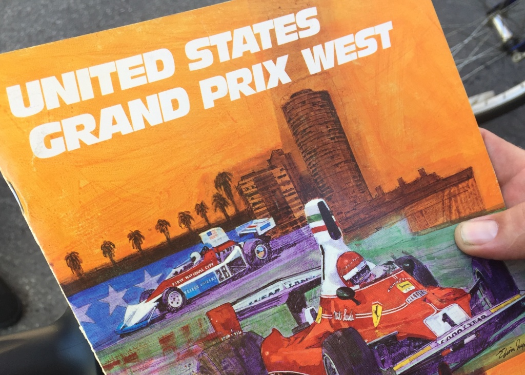 Long Beach Grand Prix guide from 1976. The inaugural Grand Prix dates back to 1975.