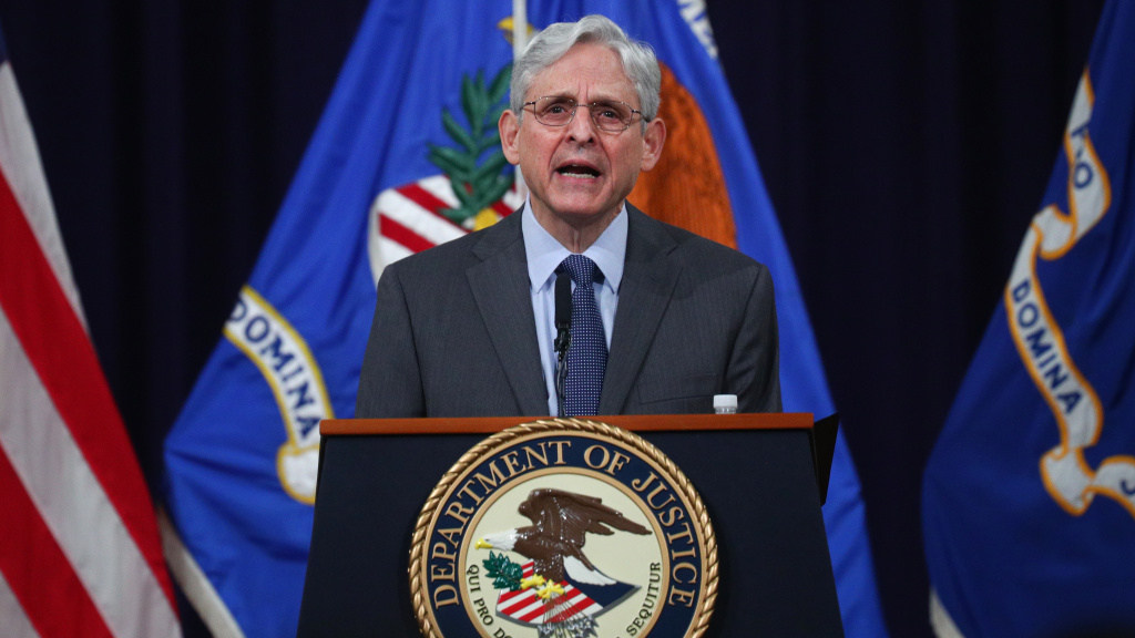 U.S. Attorney General Merrick Garland delivers remarks on voting rights at the Department of Justice on Friday.