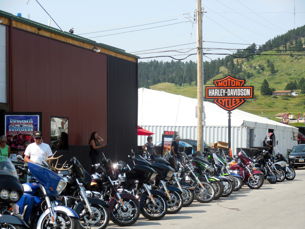 The streets of Sturgis may be quieter than they once were, especially during rally anniversary years, but there are still plenty of bikers who come to visit the vendors and local businesses.