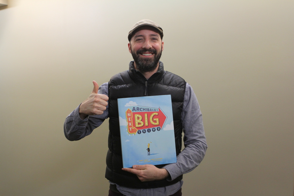 Actor Tony Hale stopped by KPCC to talk about his new children's book,