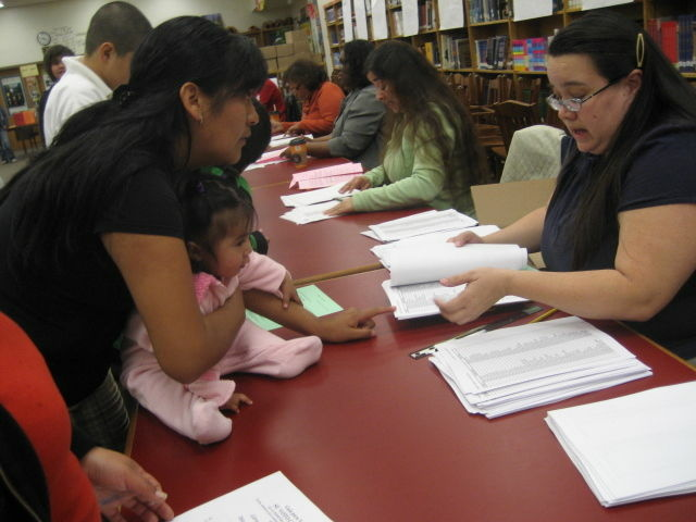 Parents, teachers and students at Belvedere Middle School in East L.A. cast advisory votes on reform plans for neighboring schools.