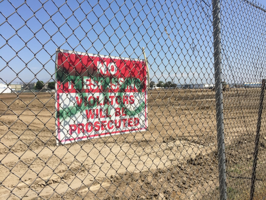 The site of the former South Central Farm on 41st and Alameda in Los Angeles. Photo courtesy of Audrey Ngo.