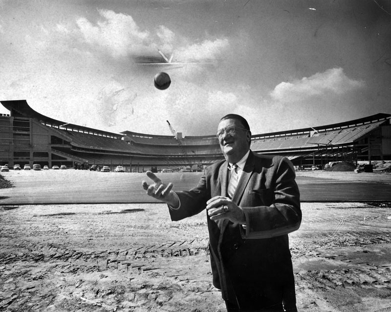 March 11, 1962: Dodgers owner Walter O'Malley stands in Dodger Stadium.