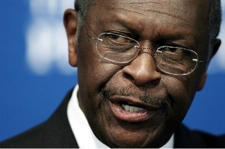 Republican presidential candidate Herman Cain speaks at the National Press Club October 31, 2011 in Washington, DC.