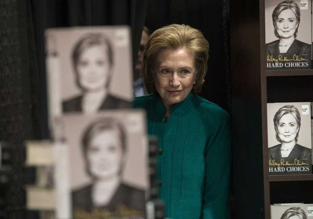 Former US Secretary of State Hillary Clinton on tour for her new book, 'Hard Choices'