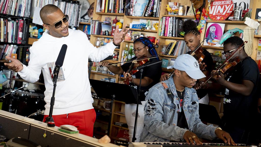 T.I. performs a Tiny Desk Concert on July 13, 2018 (Eslah Attar/NPR).