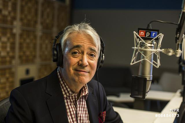 NPR Weekend Edition Host Scott Simon at NPR's new headquarters in Washington, DC on April 9, 2013.