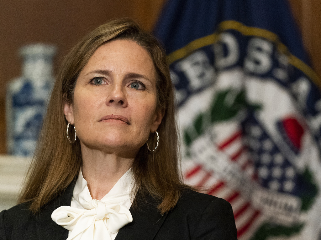 Judge Amy Coney Barrett, President Trump's nominee for the Supreme Court.