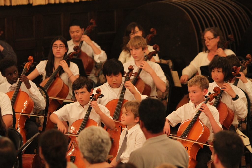 Pasadena's Conservatory of Music Suzuki String Group Recital at the Masonic Temple.