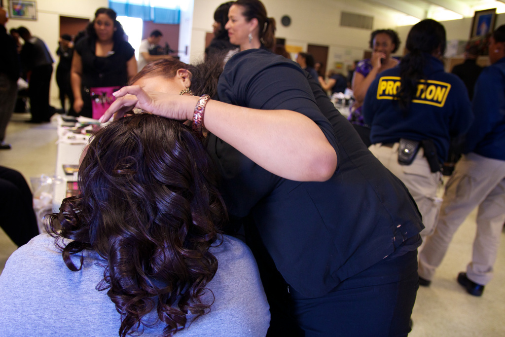 la county juvenile hall girls get makeovers  fashion show