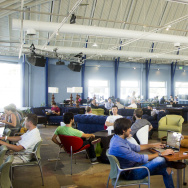 People using a coworking space.