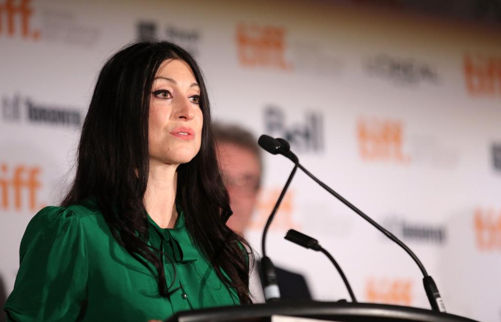 Jury member visual artist Floria Sigismondi speaks onstage during the TIFF Awards Brunch during the 2014 Toronto International Film Festival.